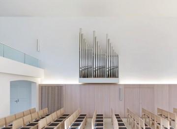 [3] Harmonisch eingepasst: Die Gestalt der Orgel entwickelten Architekt und Orgelbauer gemeinsam